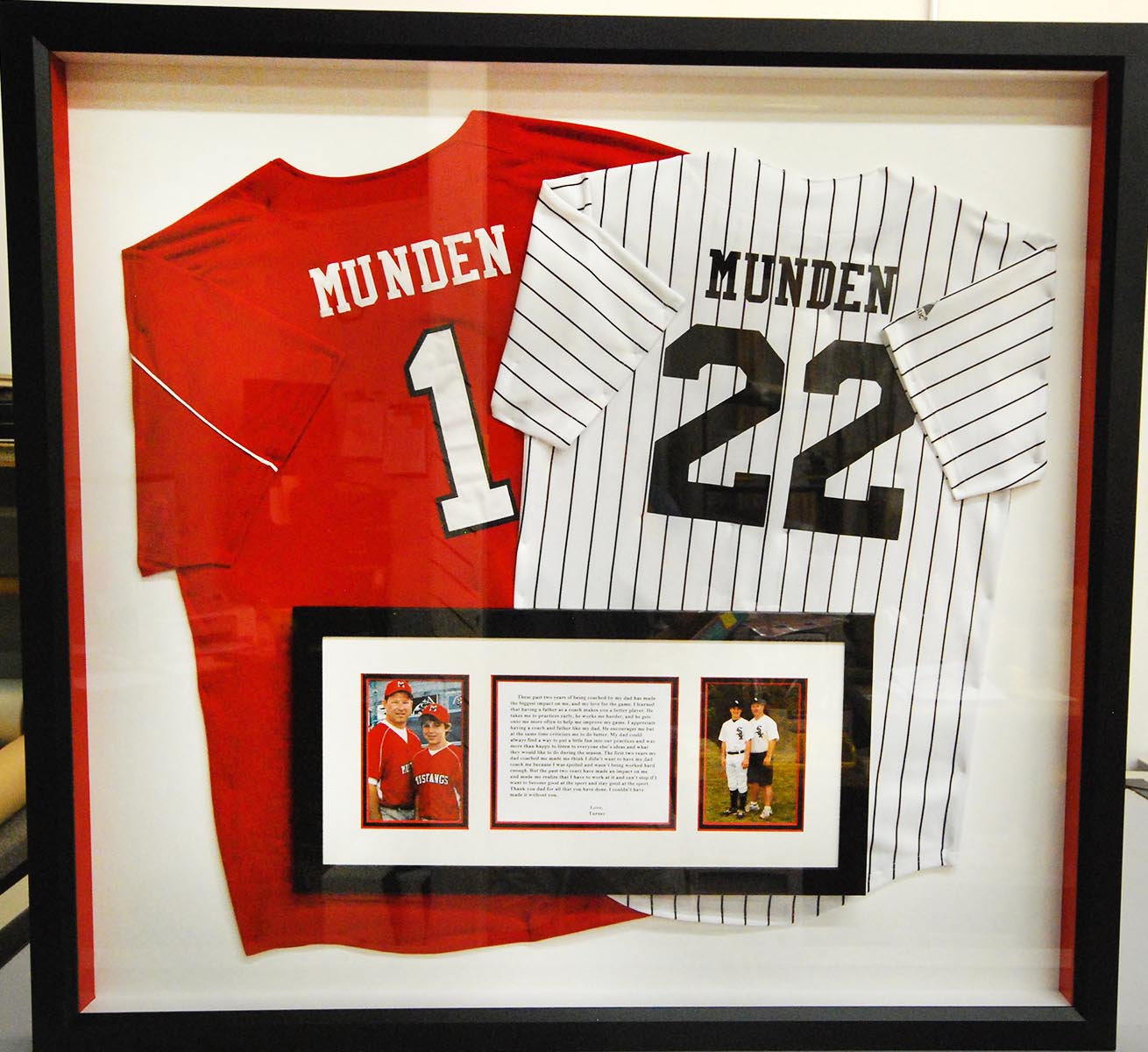 Creative Sports Jersey Framing – Fastframe Houston Picture Framing