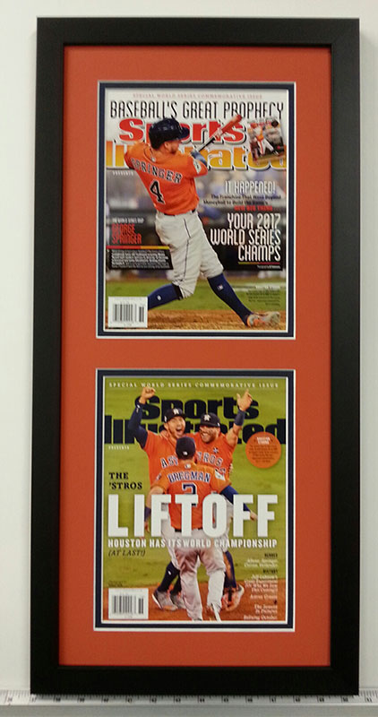 Sports Illustrated Houston Astros covers in custom picture frame